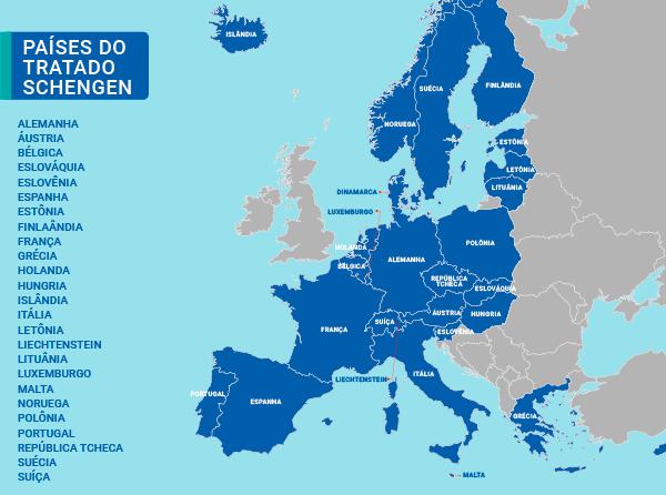 paises-zona-tratado-acordo-schengen-europa