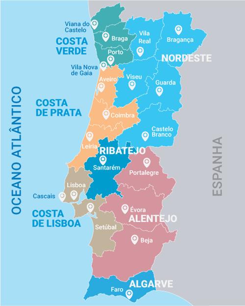 Portugal-mapa-regioes